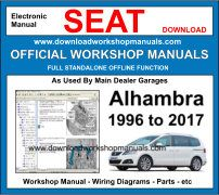 Seat Alhambra Workshop Repair Service Manual download